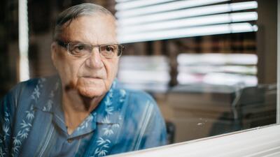 El exsheriff Joe Arpaio en su oficina de Fountain Hills, Arizona.