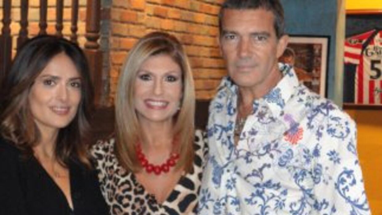Salma Hayek y Antonio Banderas hablaron de todo con la periodista Teresa...