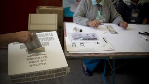 El voto de un ciudadano en la capital mexicana el pasado 5 de junio.
