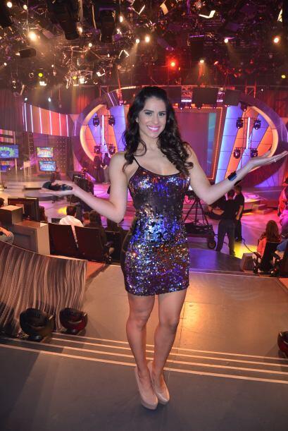 Vanessa De Roide no perdió la oportunidad para posar en los comerciales...