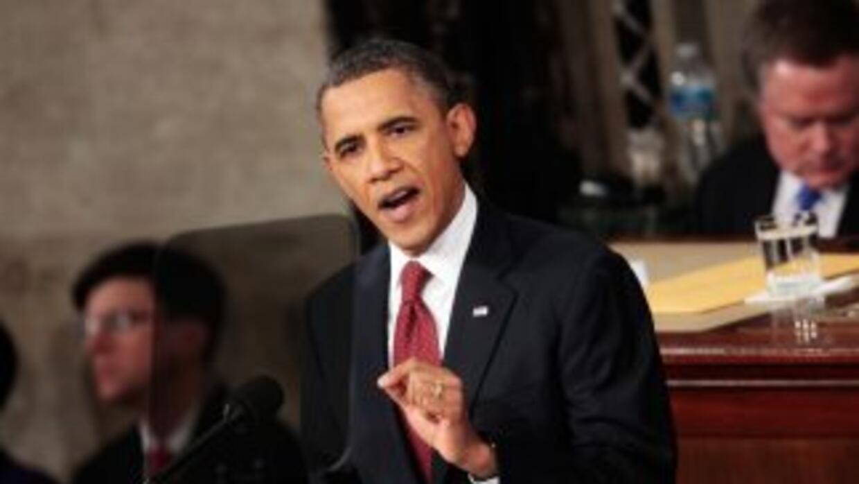 El Presidente de Estados Unidos, Barack Obama, rinde el cuatro Informe s...