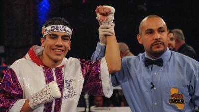Christian 'Chimpa' González sumó otra victoria a su invicto.