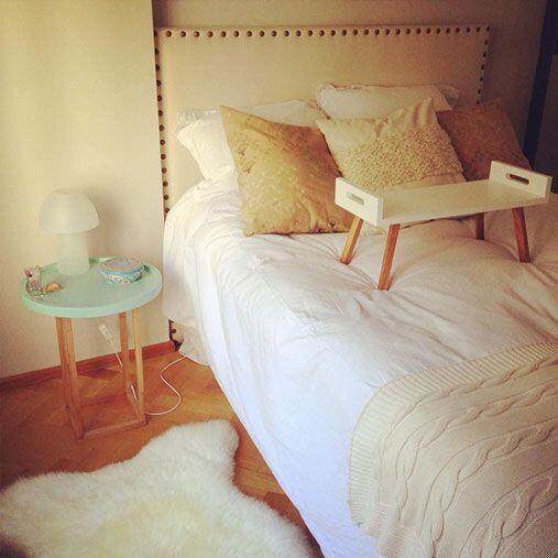 Textiles rústicos. Si tenemos muebles muy modernos, lo ideal es combinar...