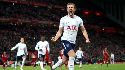Harry Kane rescata un punto al 95' en el empate 2-2 ante el Liverpool