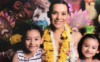 Karla Luna e hijas