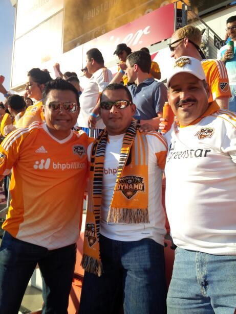 Raul Brindis en el partido de Houston Dynamo VS LA Galaxy