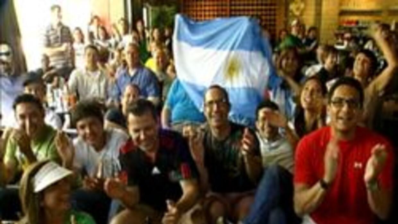 Asi se vivió el partido de México contra  Argentina en Arizona.