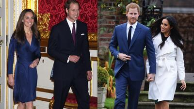10 similitudes y diferencias del compromiso real del príncipe William y el príncipe Harry