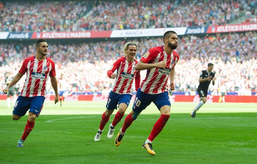 Atlético mantiene buena racha en su nueva casa venciendo al Sevilla yann...