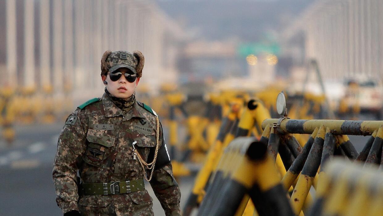Actividad en la frontera entre las dos Coreas