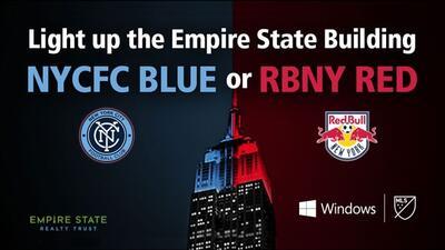 El Empire State toma color con el Hudson Derbi.