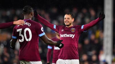 En fotos: con una asistencia del Chicharito, West Ham superó al Fulham y ya tiene cuatro triunfos al hilo