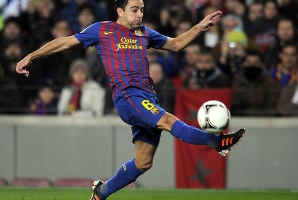 Xavi no dejaba de repartir goles a sus compañeros y en cualquier momento...