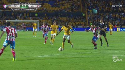 ¡No hay quinto malo! Enner anota un golazo y Tigres golea 5-1 a San Luis