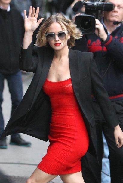 Jen llegó a Nueva York para presentarse en The Late Show con David Lette...