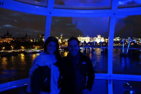 Carlitos se subió al London Eye, una de las ruedas de la fortuna más esp...
