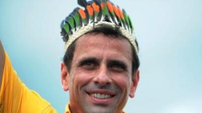 El rival de Hugo Chávez por la Presidencia de Venezuela, Henrique Capriles.