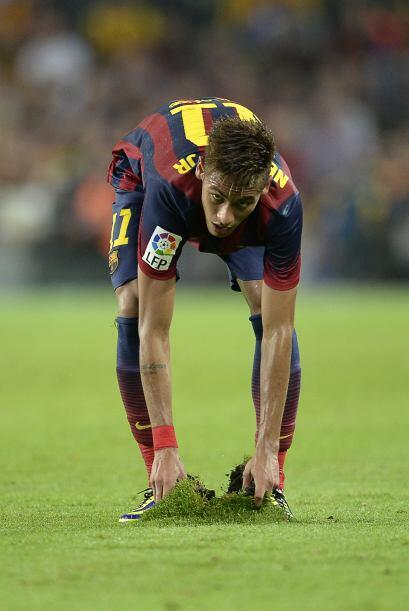 Neymar también se estrenó en el 'Clásico' anotó un gol, jugó bien y hast...