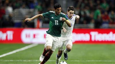 Carlos Vela -nuevo jugador de LAFC- destacó en el amistoso de México ant...