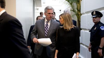El líder de la mayoría de la Cámara, Kevin McCarthy, el lunes en el Cong...