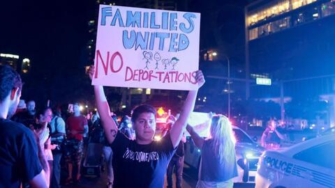 Continúan las protestas en varias ciudades de EEUU tras el triunfo elect...