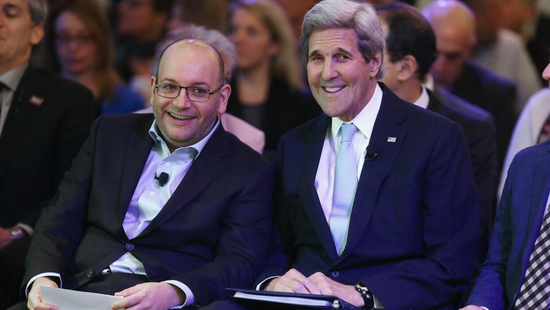 Jason Rezaian y John Kerry.