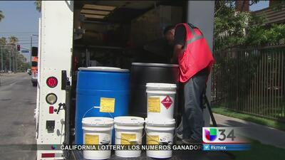 Cinco policías expuestos a peligrosos químicos