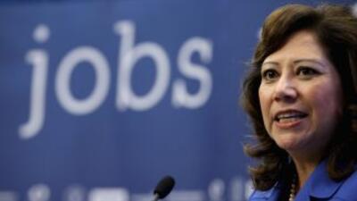 Hilda Solís, líder del Departamento del Trabajo de Estados Unidos.