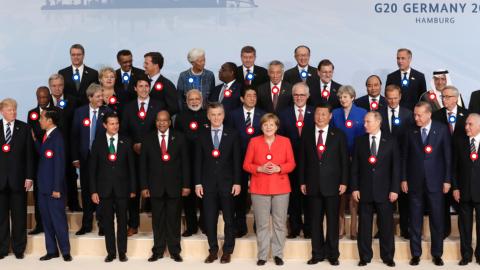La 'foto de familia' de la cumbre del G20 2017 en Hamburgo, Alem...