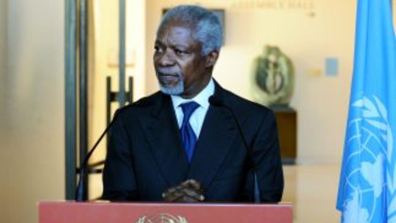 Annan pidió el respaldo del órgano de seguridad internacionalpara segui...