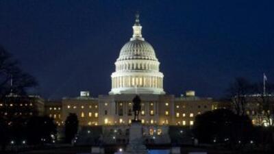 Así lucía el Capitolio de Washington mientras Barack Obama ofrecía su In...