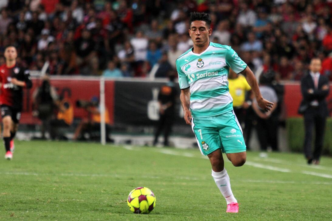 Atlas y Santos reparten puntos Walter Gael Sandoval gol 2.jpg