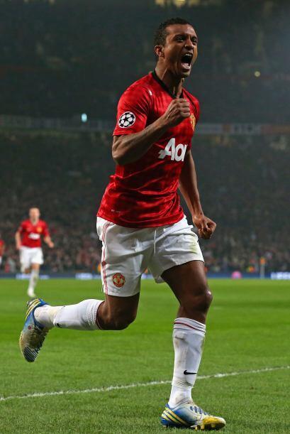 Nani celebraba y el Manchester United tomaba ventaja.