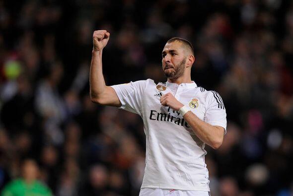 Benzema marcó su gol número 12 de la Liga BBVA y ya es quinto en la luch...