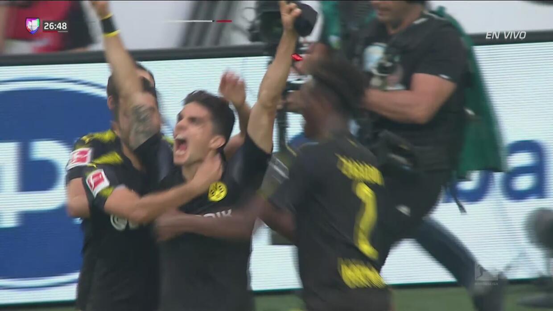 'Joyita' de Bartra para el 2-0 del Dortmund sobre el Wolfsburgo