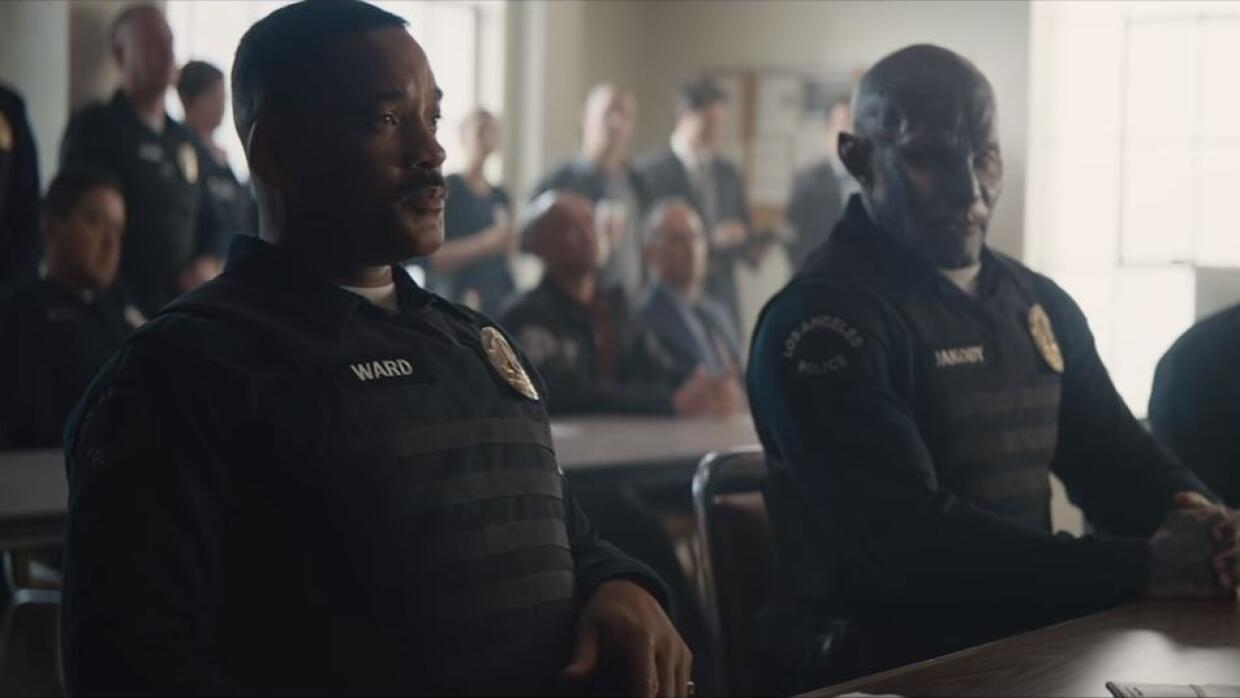 Actors Will Smith and Joel Edgerton play a crime fighting duo in a ficti...