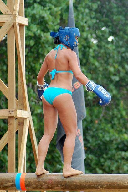 Ana María presumió su figura ataviada en un 'look' de feroz guerrera.