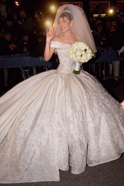 La boda de Thalía y el empresario, Tommy Motola, fue uno de los enlaces...