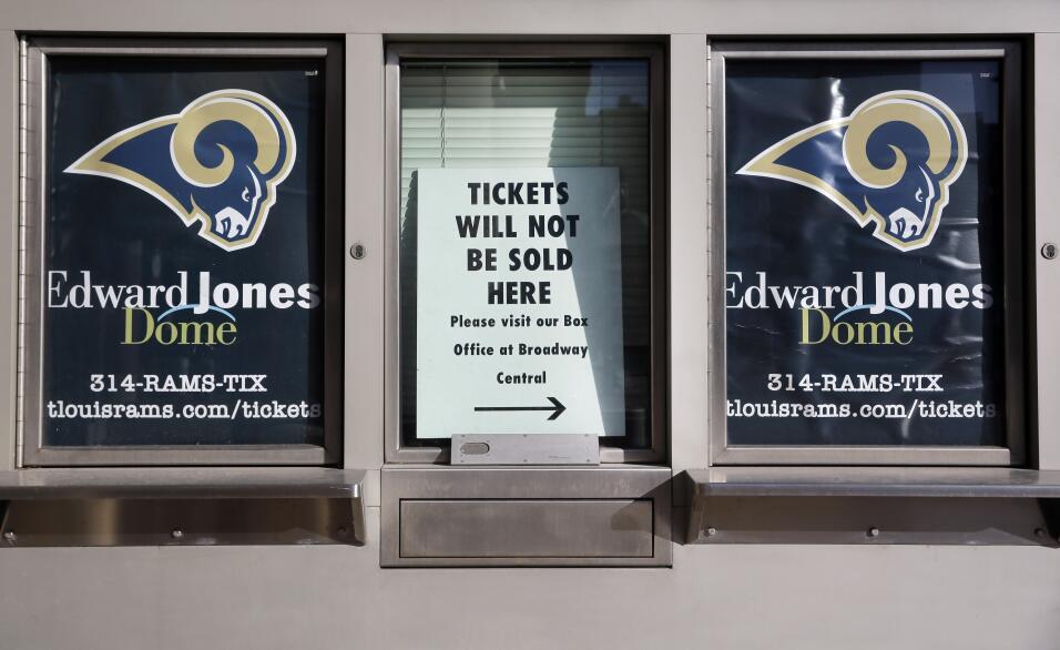 La ciudad de San Luis, Missouri se quedó sin equipo de la NFL por segund...