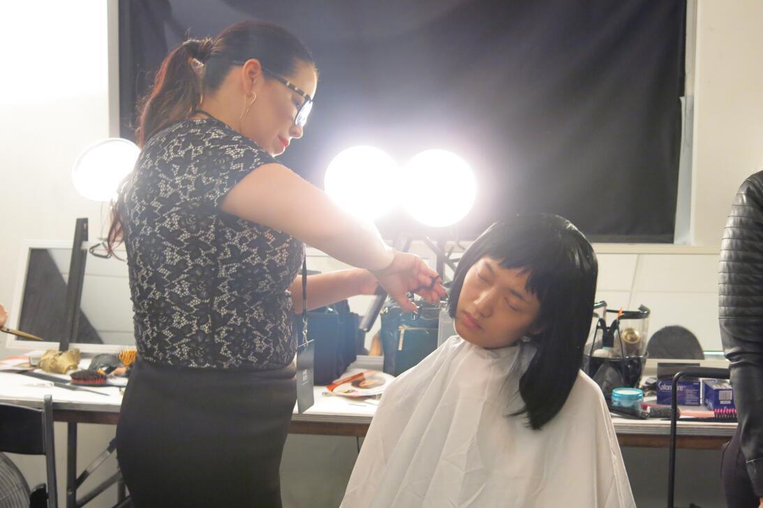 Las pelucas y el maquillaje del desfile de Georgine en NYFW IMG_4208.jpg