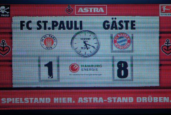 O como la que vivió el St. Pauli en su estadio contra el Bayern de Múnic...