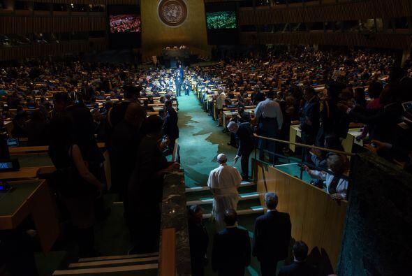 Francisco ante la Asamblea de Naciones Unidas.