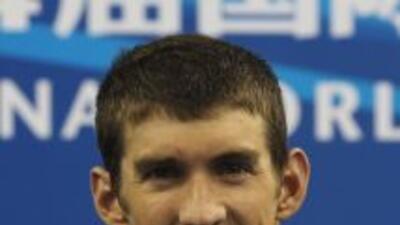 Phelps y su equipo, formado por él, Garreth Weber-Gale, Jason Lezak y Ad...