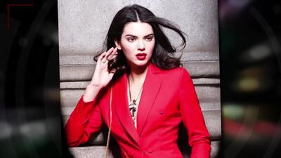 Kendall Jenner espectacular en rojo para sesión fotográfica