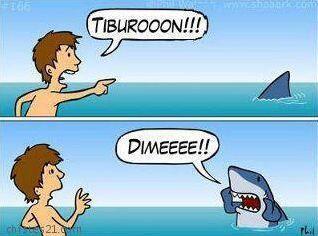 """""""¡¡¡Tiburooooón!!!""""   """"¡¡¡Dimeeeee!!!"""""""