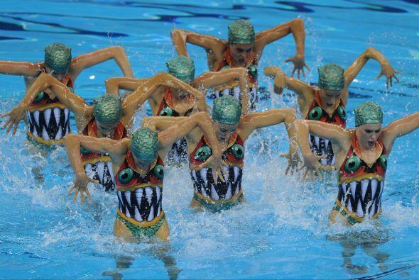España sólo sobresalió en la natación sincro...