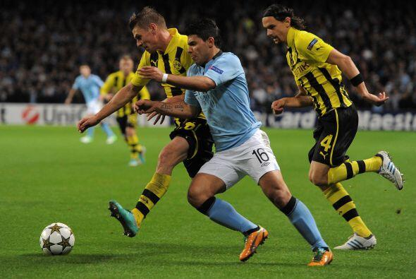 Manchester City era local ante el Borussia Dortmund.