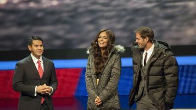 César Conde, Ximena Navarrete y William Levy.