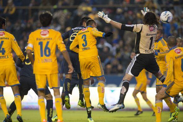 Esta es la imagen del gol del 'Topo' Valenzuela, en la que en una jugada...