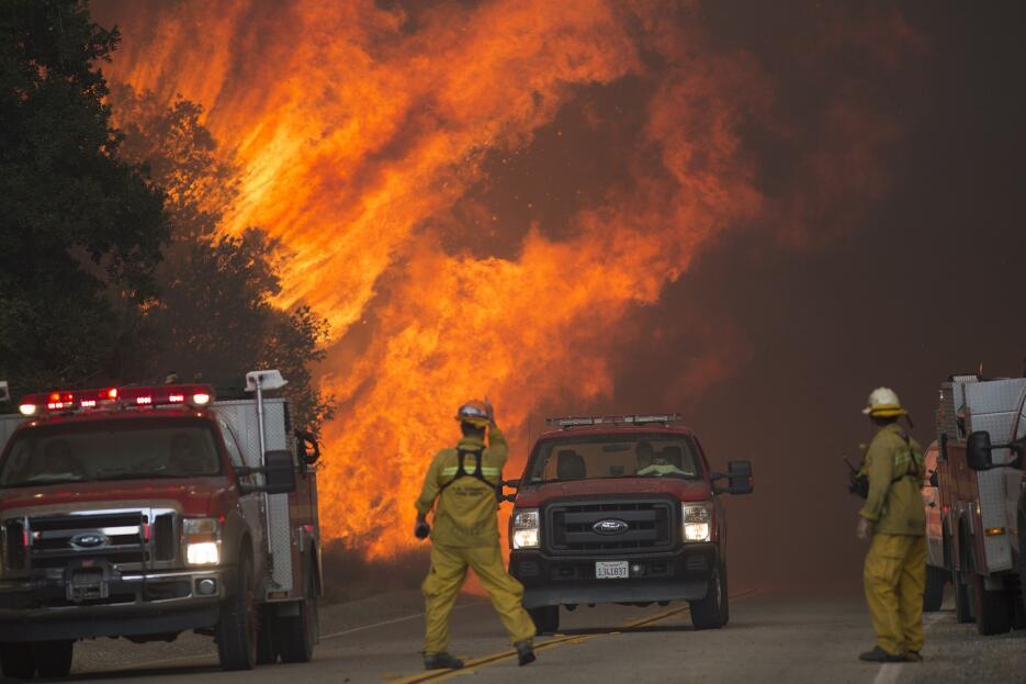 Centenares de bomberos trabajan desde el viernes 22 de julio en el incendio